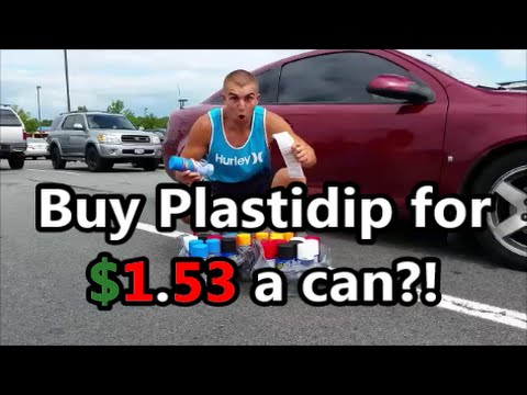 How to Buy Plastidip for $1.53 a can?! Black,White, Red, Blaze, Gunmetal, and Glossifer