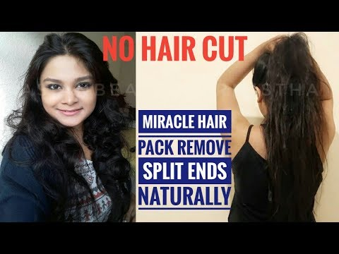 How To Get Rid Of Split Ends Instantly - No Hair Cutting | Miracle Home Remedy