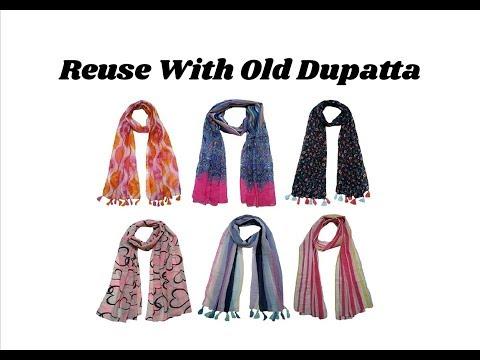 Reuse idea with old dupatta | Designer Scarf making