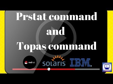 Prstat command and Topas command | Unit 5