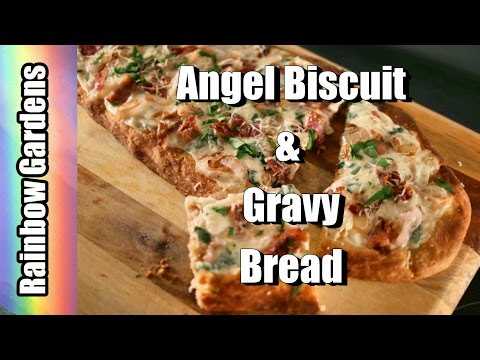 4K Angel Biscuit and Gravy Breakfast Bread Recipe (with BACON!)