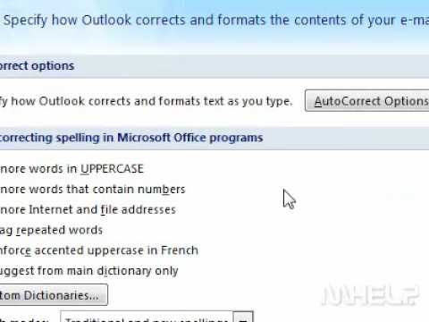 How to change spell check to include words in uppercase letters Outlook