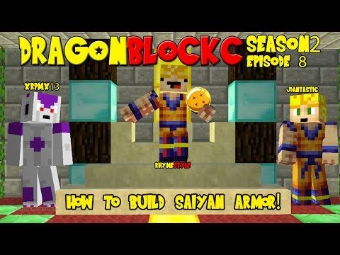 Dragon Block C 1.6.4 Season 2: How to build Saiyan Armor (Dragon Ball Z Minecraft EP 8)