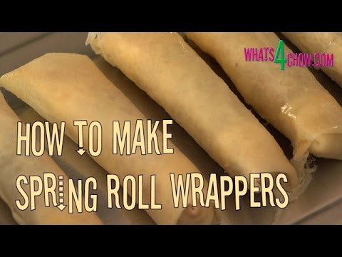 How to Make Spring Roll Wrappers. Quick and Easy Homemade Spring Roll Wrappers / Skins.