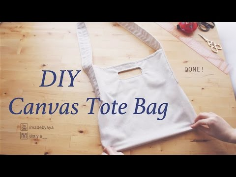 DIY Canvas Tote Bag // キャンバス トートバッグの作り方 / 手作教學 / Costuraㅣmadebyaya