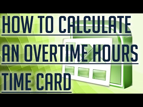 [Free Excel Tutorial] HOW TO CALCULATE OVERTIME HOURS ON A TIME CARD IN EXCEL - Full HD