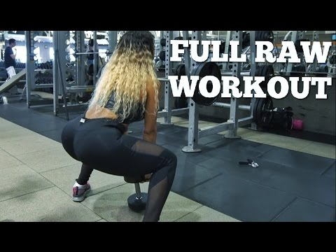 HOW TO GET A BIGGER BUTT | Full Raw Workout