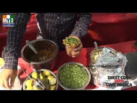 SWEET CORN WITH CHAT MASALA | GOA STREET FOOD | INDIAN STREET FOOD
