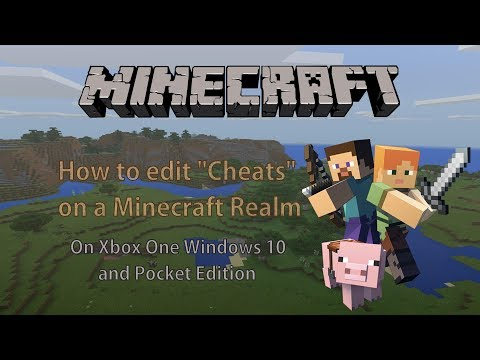 How to edit cheats on a Minecraft Realm on Xbox One Windows 10 and Pocket Edition