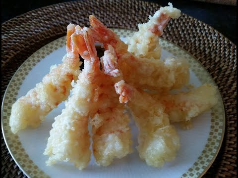 Shrimps tempura step by step making  with home made dipping sauce
