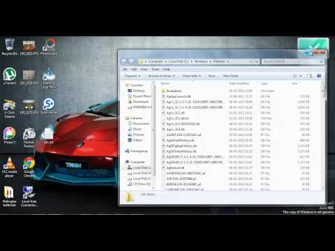 How to delete prefetch file in windows 7