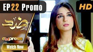 Pakistani Drama   Zid - Episode 22 Promo   Express TV Dramas   Arfaa Faryal, Muneeb Butt