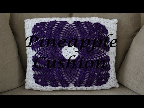 Crochet Pineapple Cushion Cover