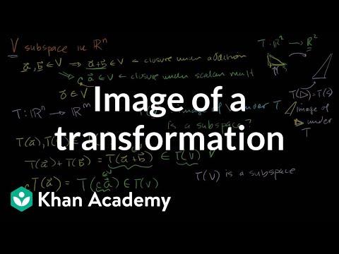 im(T): Image of a transformation | Matrix transformations | Linear Algebra | Khan Academy