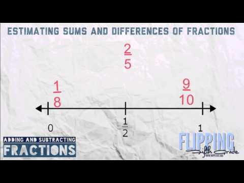 Topic 9.4: Estimating Sums And Differences Of Fractions