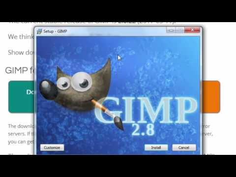 How to Download and Install GIMP 2.8.22 on Windows 2017