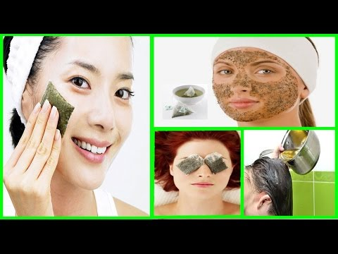 How to use USED GREEN TEA BAGS for glowing skin & beautiful hair|Don't throw away used tea bags