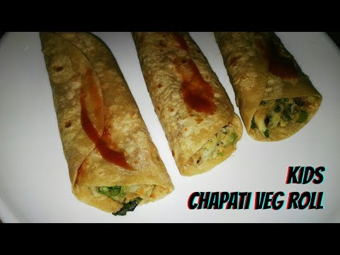 Kids vegetable wrap | Chapati veg roll | spicy vegetable wrap