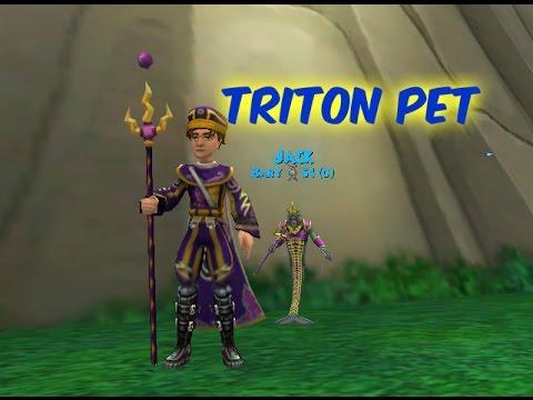 Triton Pet - Level 78 Storm Pet Quest (Wizard101)