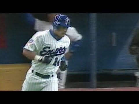 Brad Fullmer homers in first career at-bat