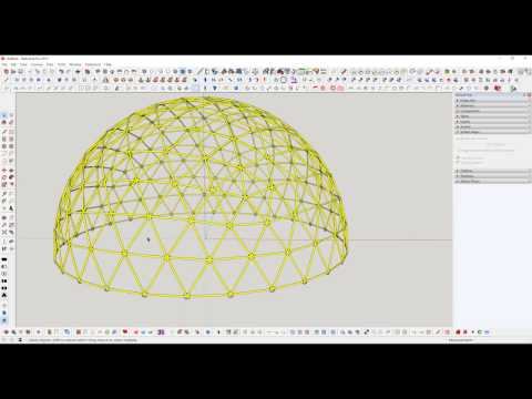 Sketchup Geodesic Dome Creator
