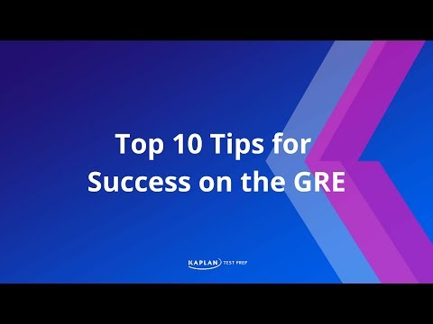 Top 10 Tips for Success on the GRE
