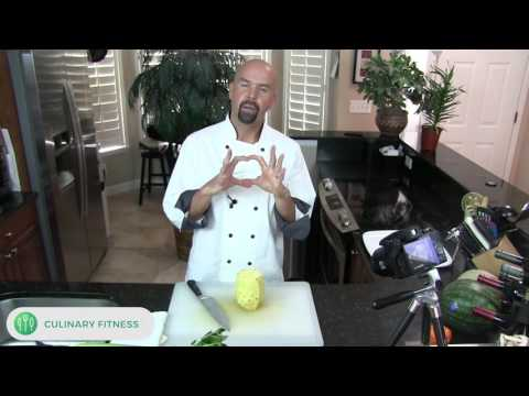 How to cut pineapple - Knife skills 101 with Chef Dennis Berry | Healthy Cooking Videos