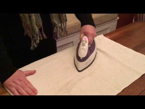 Remove Water Stain from Wood Table with an Iron