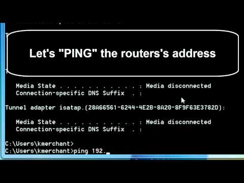How to PIng an IP address within your windows 7 or Windows XP Network