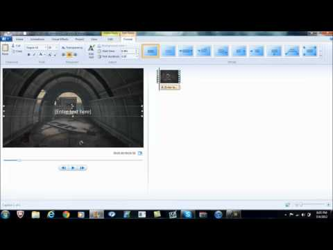 How to make text look Motion Tracked in Windows Live Movie Maker!!!
