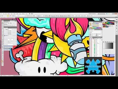Designing, inking, and coloring in Adobe Illustrator CS5