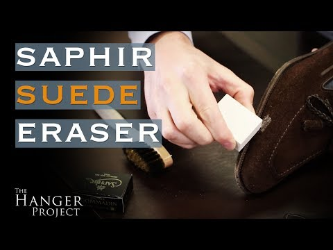 How to Remove Stains from Suede Shoes | Saphir Suede Eraser