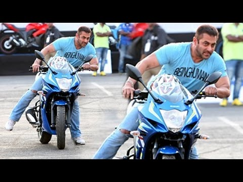 Salman Khan's DANGEROUS BIKE STUNTS On Mumbai Roads (VIDEO)