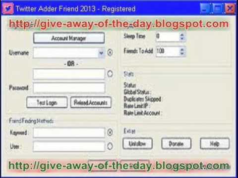 Twitter Friend Adder 2013