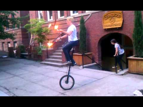 Torches on a 5-foot Unicycle
