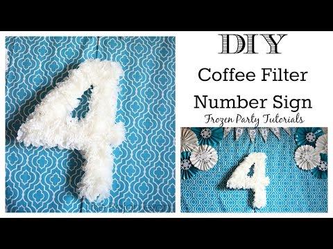 DIY Coffee Filter Number Sign