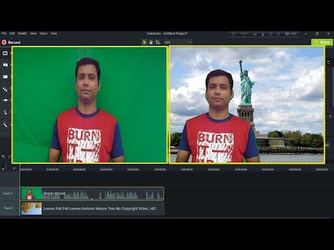 How to Change Video Background & Set New Video Background in Camtasia 9 Bangla Tutorial for Beginner