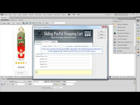 Using Sliding PayPal Shopping Cart