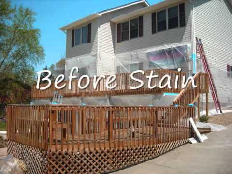 wood decking clean and stain video