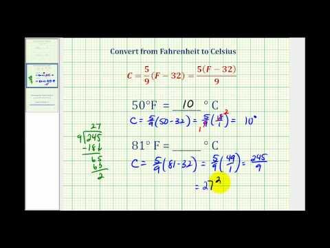 Ex:  Convert Temperature from Fahrenheit to Celsius