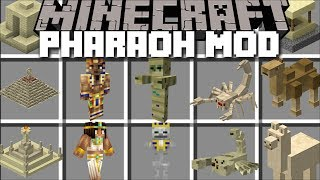 Minecraft PHARAOH MOD / ADVENTURE IN TO THE DESERT AND SURVIVE THE PYRAMID!! Minecraft