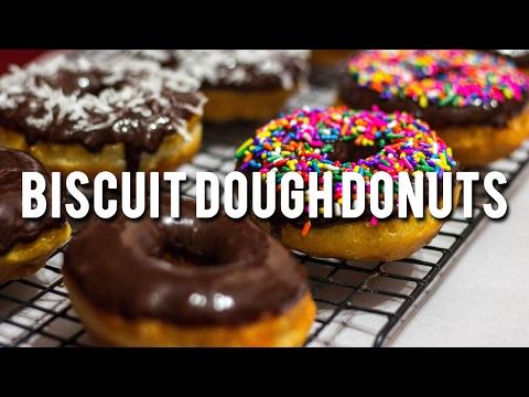 Biscuit Dough Donuts - Easy Recipe - SamCanChef