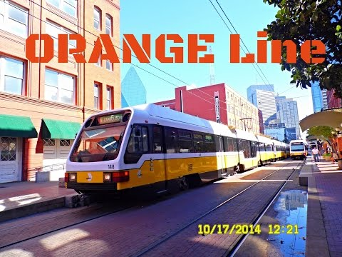 🚊/💺 Dallas DART: ORANGE Line (SUPER Light Rail) to LBJ/Central... FULL RIDE!