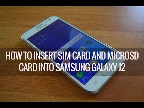 How to Insert SIM Card and Micro SD Card into Samsung Galaxy J2