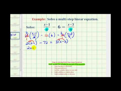 Ex 2:  Solve an Equation with Fractions with Variable Terms on Both Sides