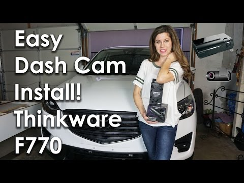 HOW TO HARDWIRE DASH CAM TO FUSE BOX! THINKWARE F770