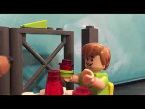 LEGO scooby doo on spooky island with hot peppers