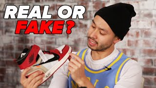 Sneakerheads Try To Spot The Fake Jordans