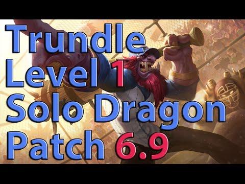 League of Legends: Trundle Level 1 Solo Dragon Season 6 (Patch 6.9)