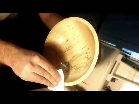6 - Applying the first coat of Walnut Oil